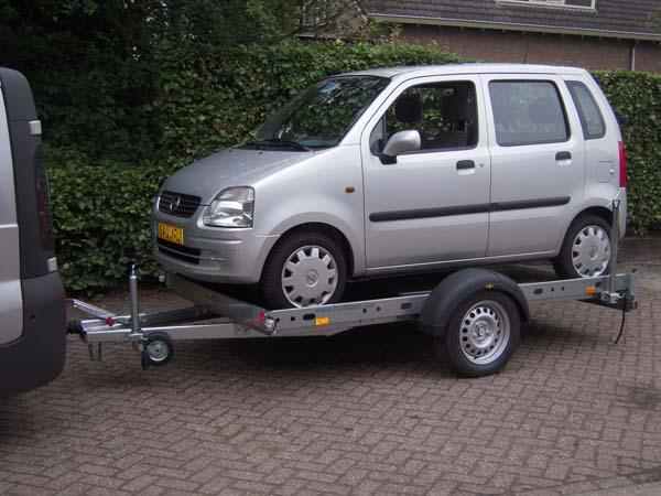 Aanhangwagen motor trailer geremd